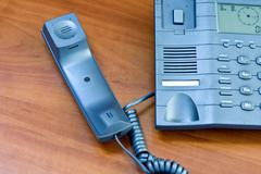 Telephone with receiver put aside Stock Photos