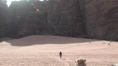 Pastoral Settings in the Wadi Rum, Jordan - stock footage