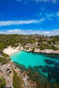 Cala Macarelleta in Menorca at Balearic Islands - stock photo