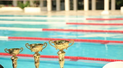 Swimming cup Stock Footage