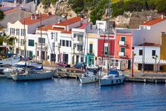 Mao Port of Mahon in Menorca at Balearic islands Stock Photos