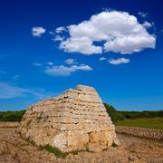 Menorca Ciutadella Naveta des Tudons megalithic tomb Stock Photos