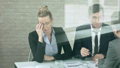Tired of business discussion - stock footage