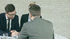 Disagreeing with colleagues Stock Footage