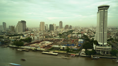 Time Lapse of River Chao Praya in Bangkok, Thailand Stock Footage