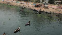 river in Dhaka Bangladesh, time lapse - stock footage