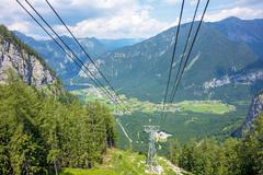 Stock Photo of Dachstein, Obertraun, lake Hallstatt