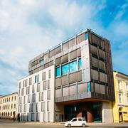 Scandinavian Architecture - Exterior Office Building - stock photo