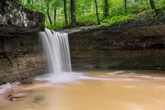 Indiana's Rock Rest Falls Stock Photos
