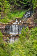 Michigan's Alger Falls - stock photo