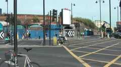 Railway Arches at junction Shoreditch London Stock Footage