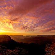 Arizona sunset Grand Canyon National Park Yavapai Point - stock photo