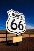 Route 66 road sign in Arizona USA Kuvituskuvat