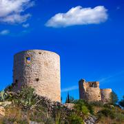 Stock Photo of Javea denia San antonio Cape old windmills masonry structure