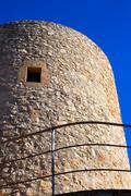 Javea denia San antonio Cape old windmills masonry structure - stock photo