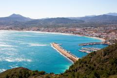Javea in Alicante aerial view Valencian Community of spain - stock photo