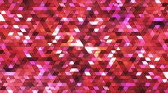 Broadcast Twinkling Polygon Hi-Tech Triangles, Red, Abstract, Loopable, HD Stock Footage