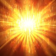 Abstract Sunburst ardent background - stock illustration