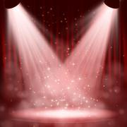 Spotlight effect scene background Stock Illustration