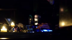 DJ Mixer Controller. Faders and Switches of Audio Mixing Console in Nightclub Stock Footage