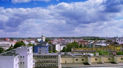 Rzeszowis the biggest city in Poland Stock Footage