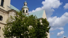 Basilica of the Assumption in Rzeszow - stock footage