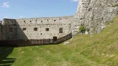 Spis Castle Stock Footage