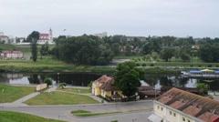 New Hrodna Castle Stock Footage