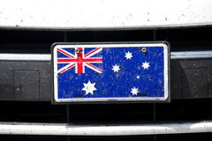 Australian flag on bumper Stock Photos