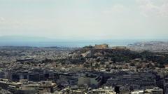 Stock Video Footage of 4K real time Athens establishing shot,Acropolis/Parthenon in view