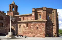 Santa Maria church in Prades, Spain - stock photo