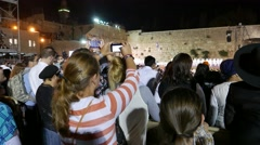 Crowd View Event at Western Wall Stock Footage