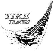 Tire tracks - stock illustration