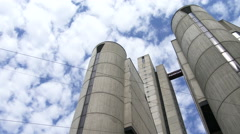Cement building in Genoa, Italy Stock Footage