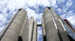 Cement building in Genoa, Italy - stock footage
