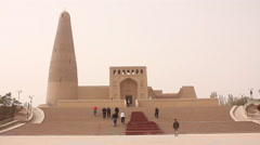 Emin Minaret Mosque, Turpan, Xinjiang, China Stock Footage