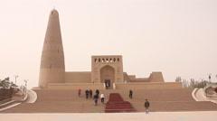 Emin Minaret Mosque, Turpan, Xinjiang, China Stock Footage