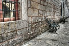 Ancient stonewall at Topkapi Palace, Istanbul Stock Photos