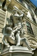 Statue at Imperial Palace in Vienna - stock photo