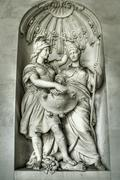 Sculpture at Imperial Palace of Vienna - stock photo