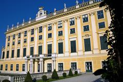 Side of Schonbrunn palace - stock photo