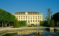 Artesian well in gardens of Schonbrunn palace - stock photo