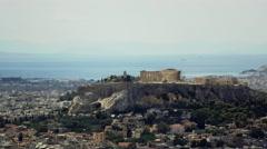 4K real time Athens establishing shot,Acropolis/Parthenon in view - stock footage