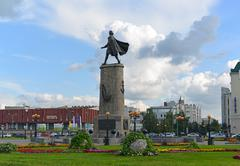 Lipetsk RUSSIA-05.08.2015. Monument to Peter the Great is one of main attract - stock photo