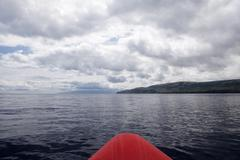 Atlantic Ocean in Azores - view from sail boat Stock Photos