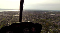 Aerial out of a helicopter Bellingham, WA Stock Footage