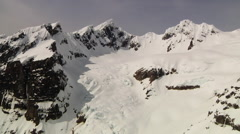Helicopter Aerial View of Mt Baker Snowy Peaks Stock Footage