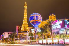 Editorial use only Las Vegas Nevada Strip at night - stock photo