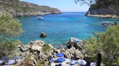 Anthony Quinn Bay, Rhodes, Greece - stock footage