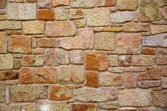 Masonry walls in Maestrazgo of Teruel Spain - stock photo